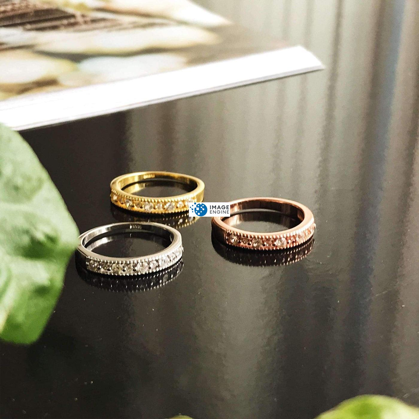 Joyce Layered Stack Ring - On Table