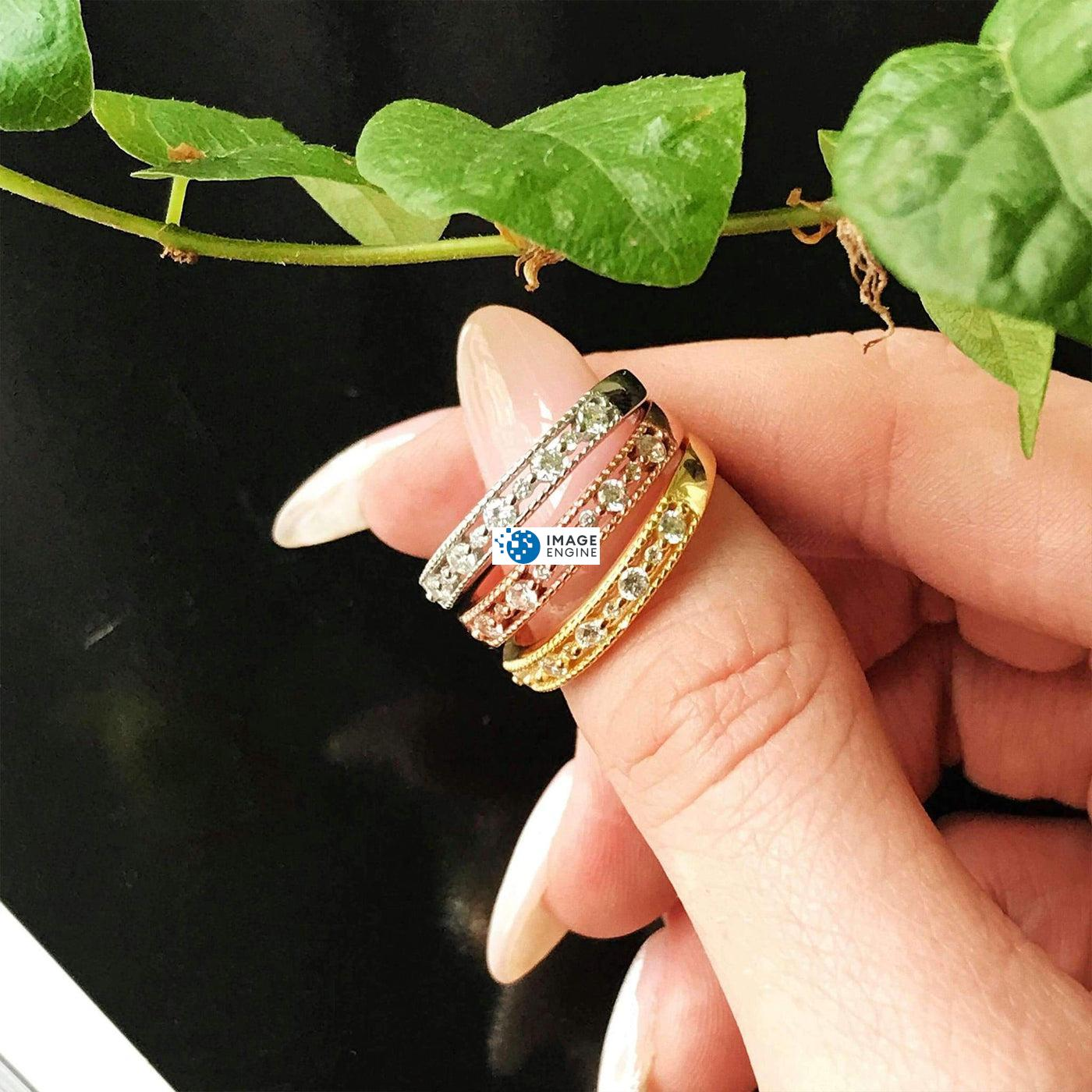 """Joyce Layered Stack Ring - On Thumb  """