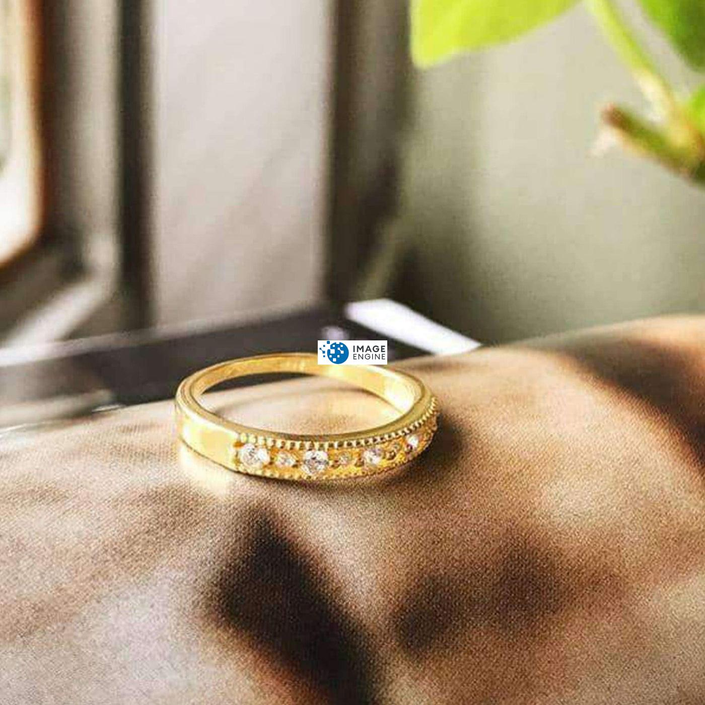 Joyce Layered Stack Ring - Showcasing Ring - 18K Yellow Gold Vermeil