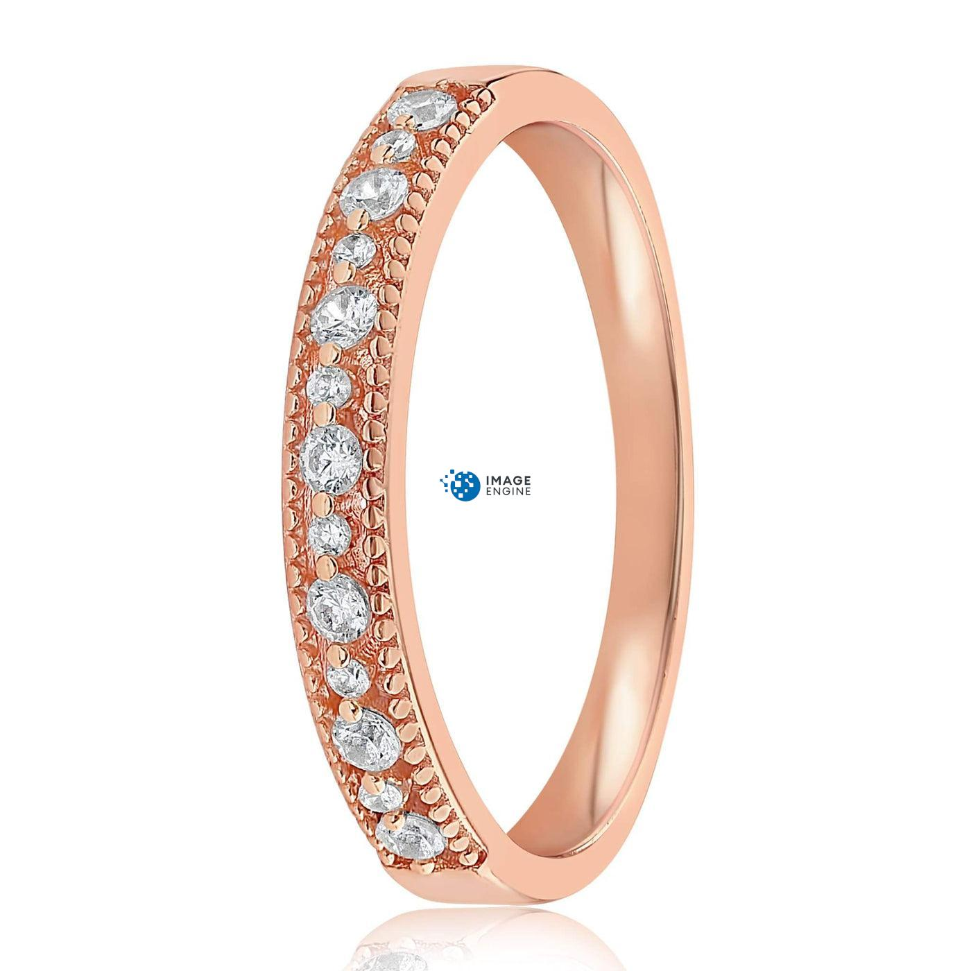 Joyce Layered Stack Ring - Front View Facing Down - 18K Rose Gold Vermeil