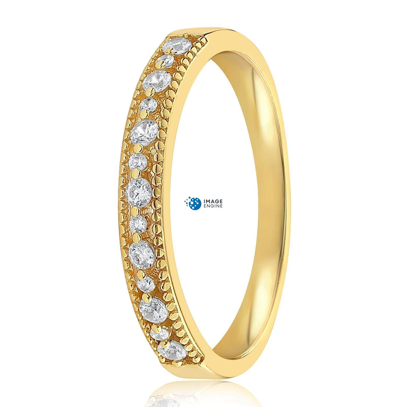 Joyce Layered Stack Ring - Side View - 18K Yellow Gold Vermeil