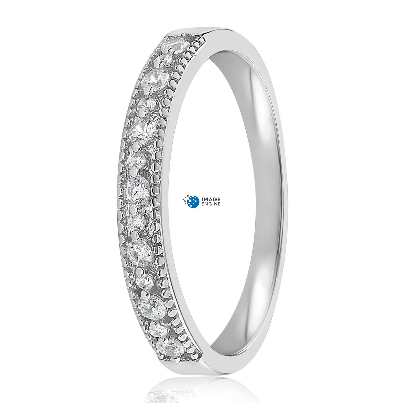 Joyce Layered Stack Ring - Side View - 925 Sterling Silver