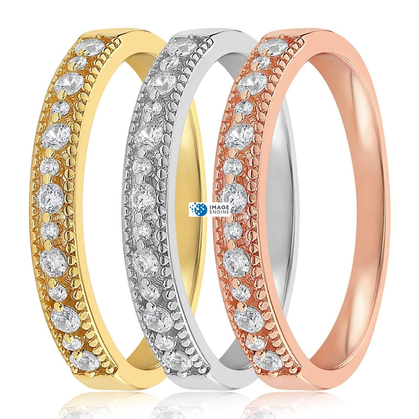 Joyce Layered Stack Ring - Side by Side - Collection