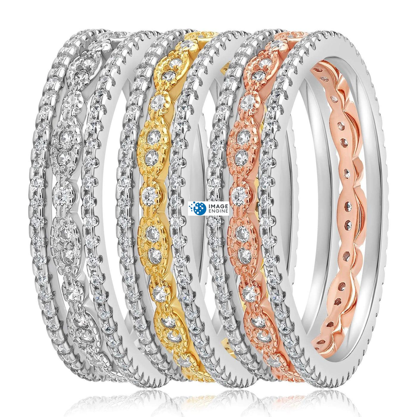 Juliana 3 Ring Set - Side by Side - Collection