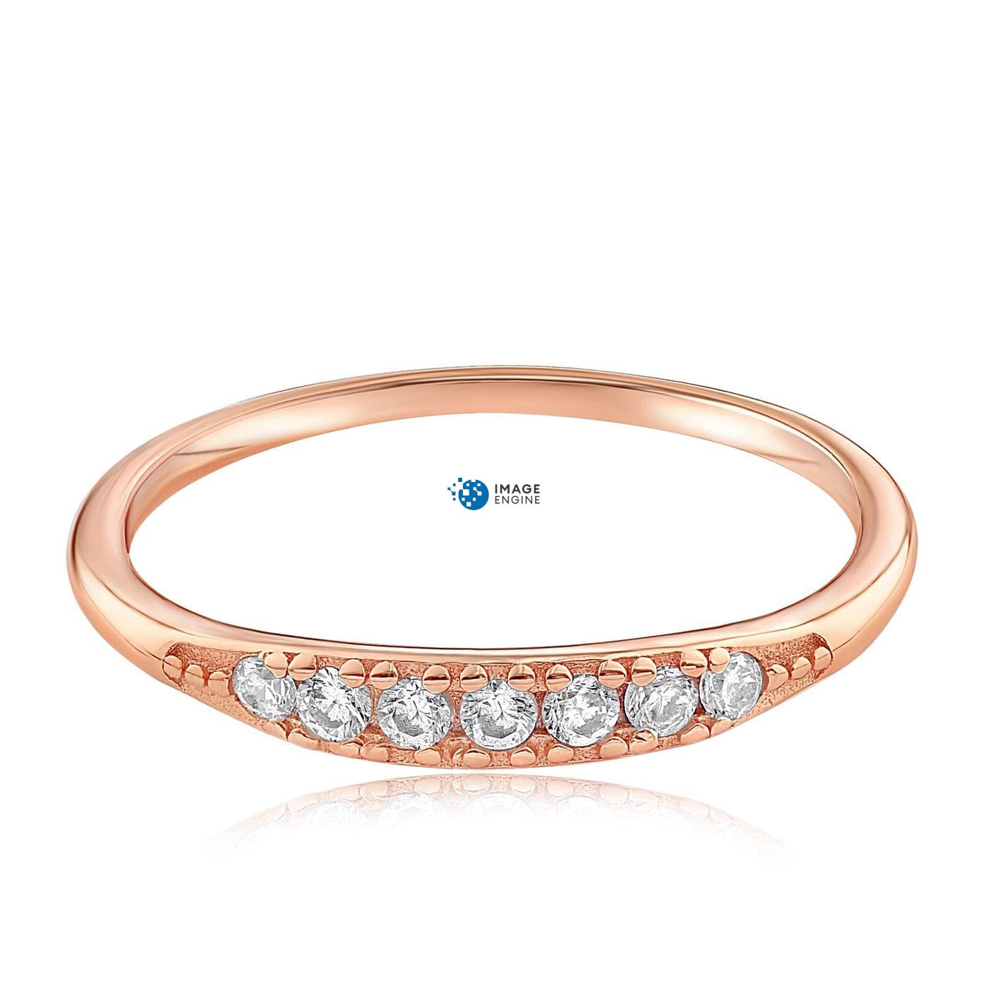 Kathleen Stack Ring - Front View Facing Down - 18K Rose Gold Vermeil