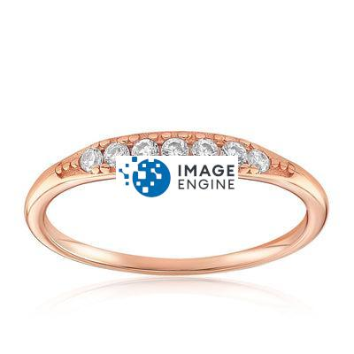 Kathleen Stack Ring - Front View Facing Up - 18K Rose Gold Vermeil