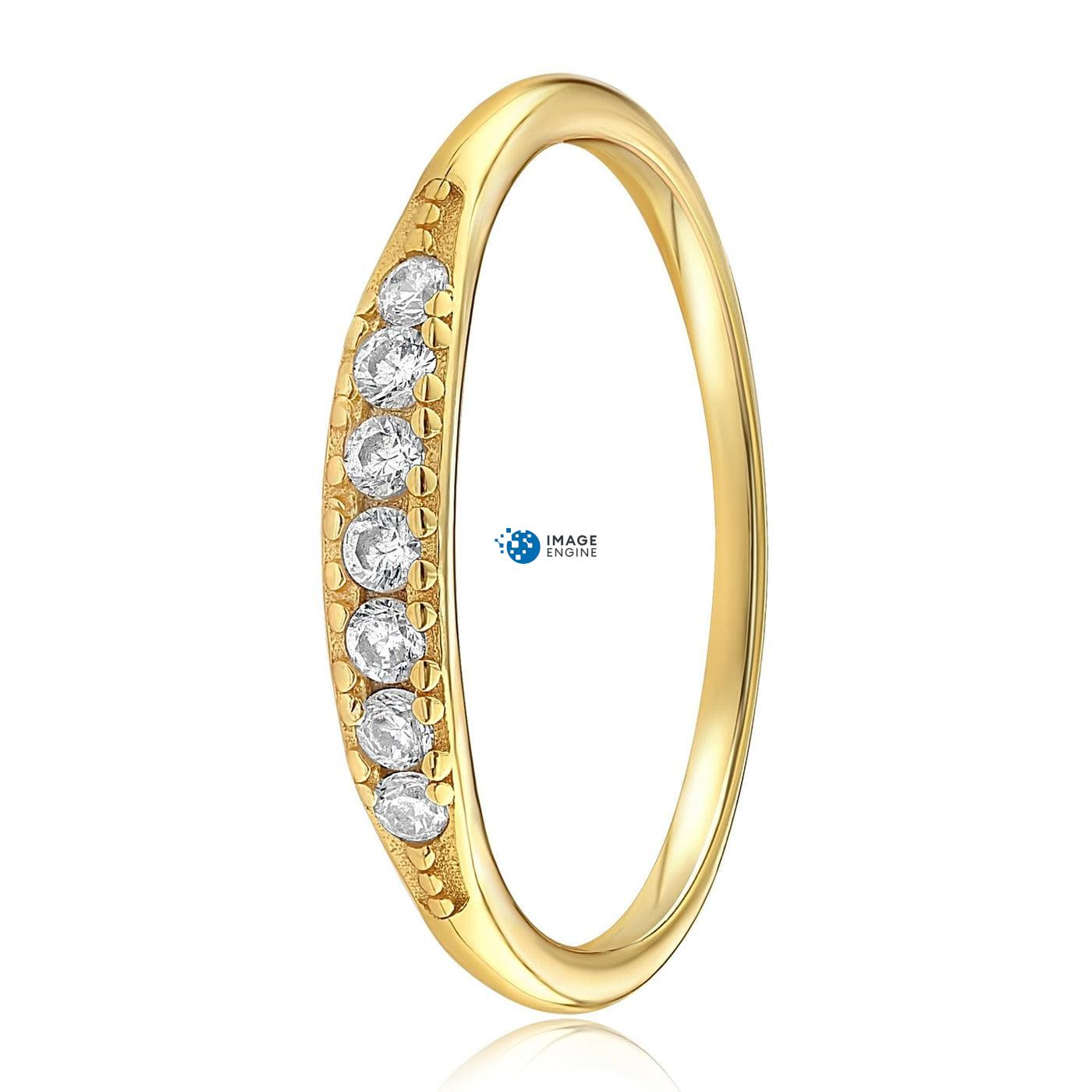 Kathleen Stack Ring - Side View - 18K Yellow Gold Vermeil