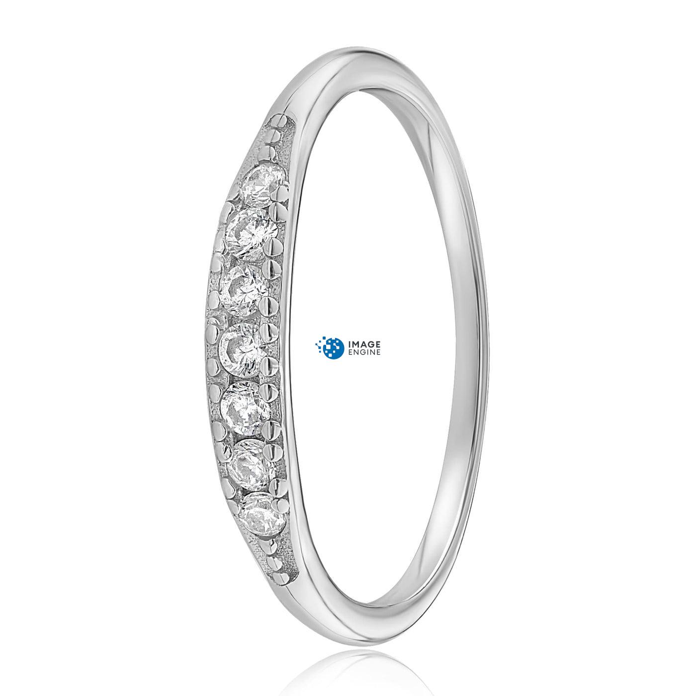 Kathleen Stack Ring - Side View - 925 Sterling Silver