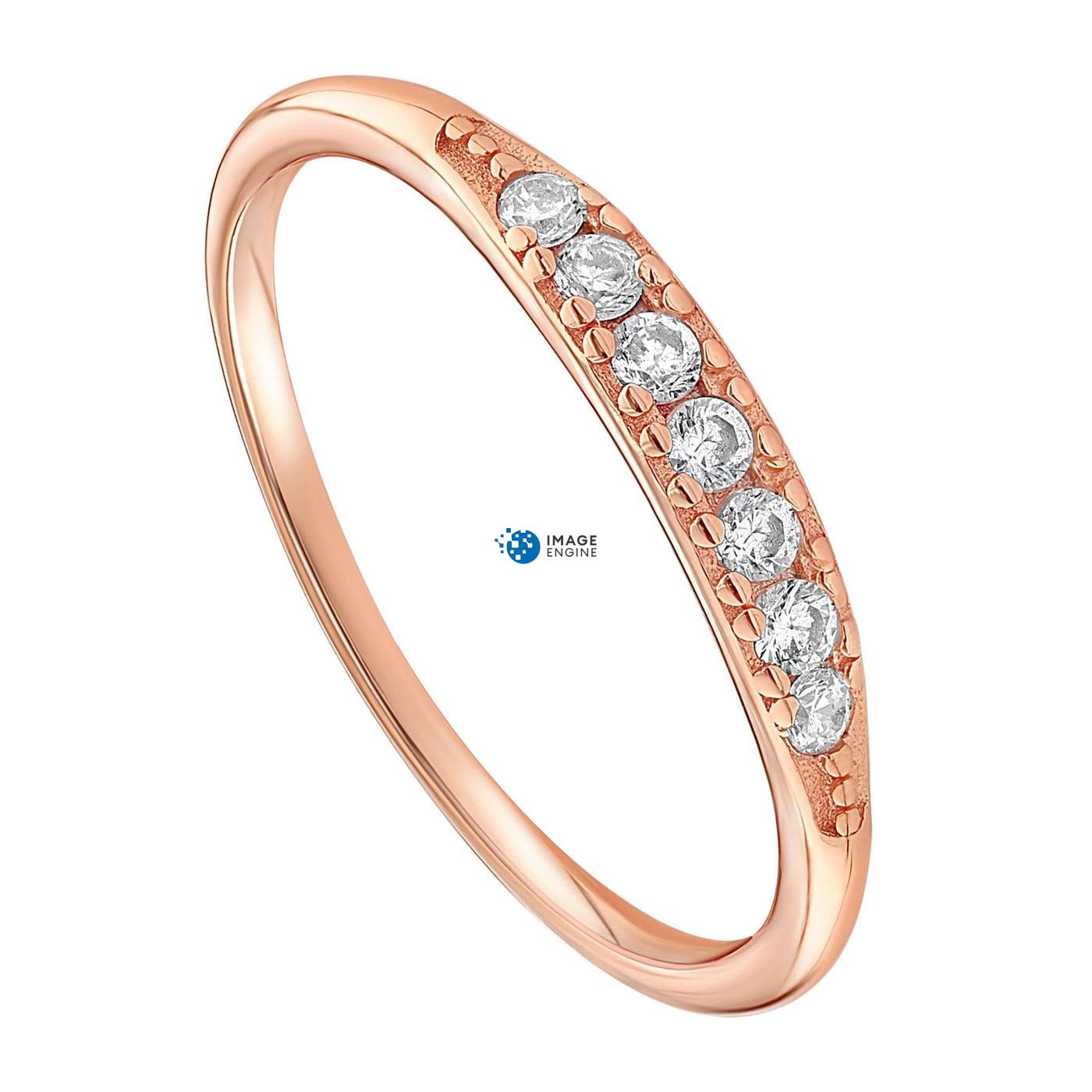 Kathleen Stack Ring - Three Quarter View - 18K Rose Gold Vermeil