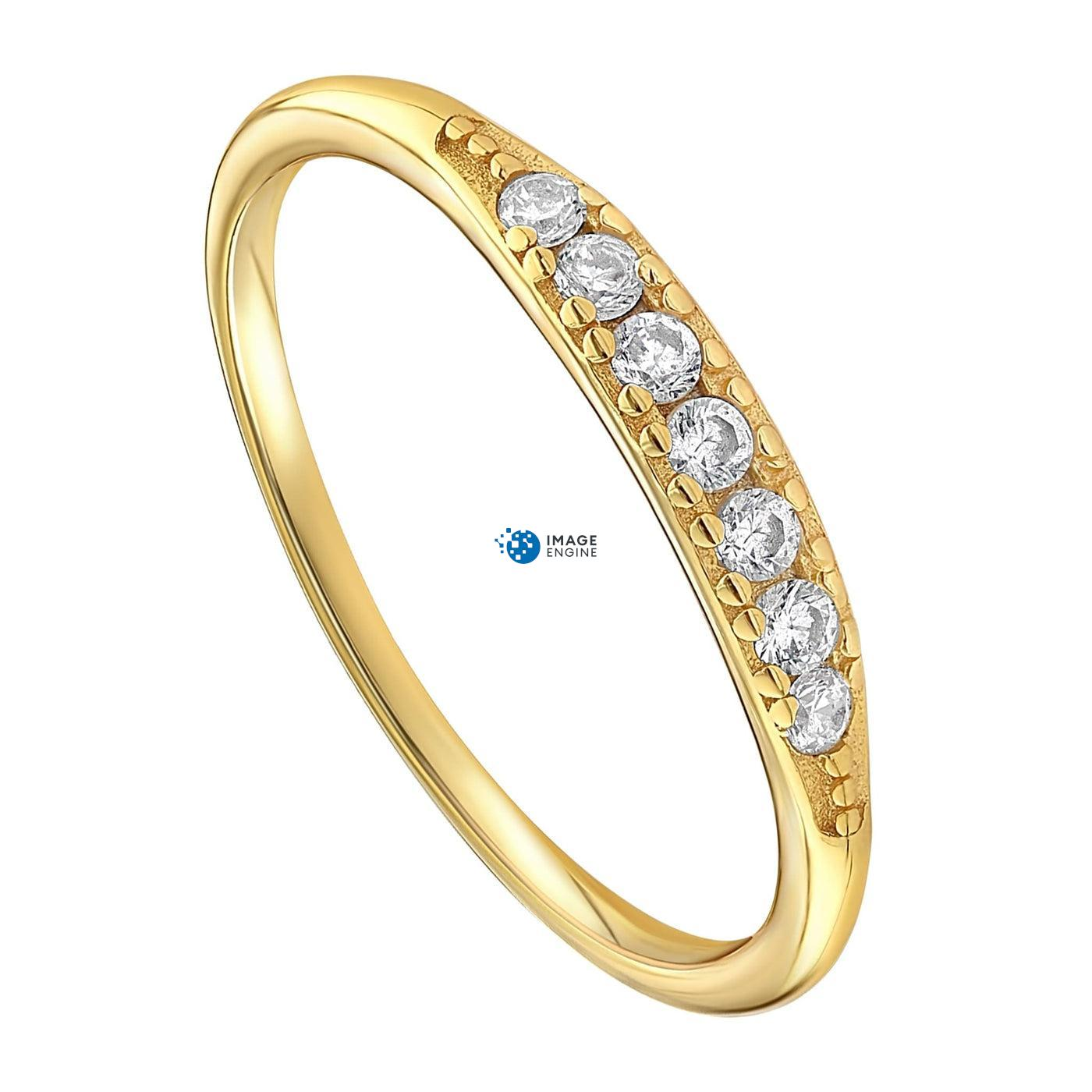 Kathleen Stack Ring - Three Quarter View - 18K Yellow Gold Vermeil