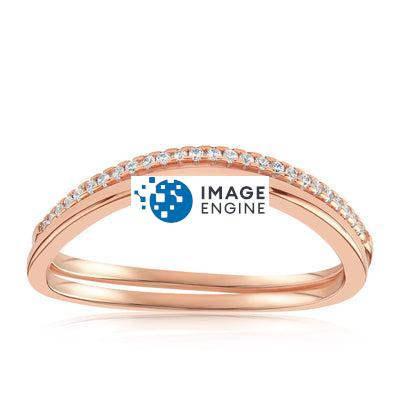Midi Knuckle 2-Ring Set - Front View Facing Up - 18K Rose Gold Vermeil