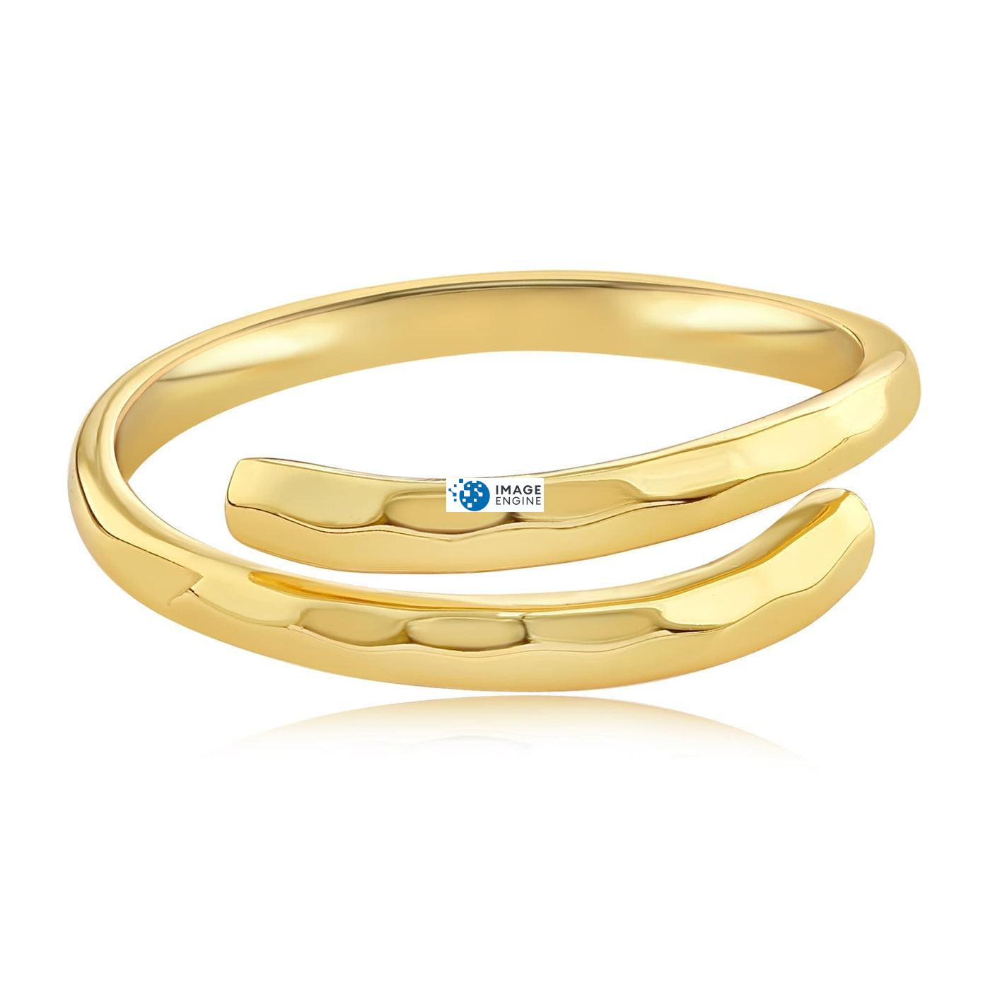 Minimalist Thumb Ring - Front View Facing Up - 18K Yellow Gold Vermeil