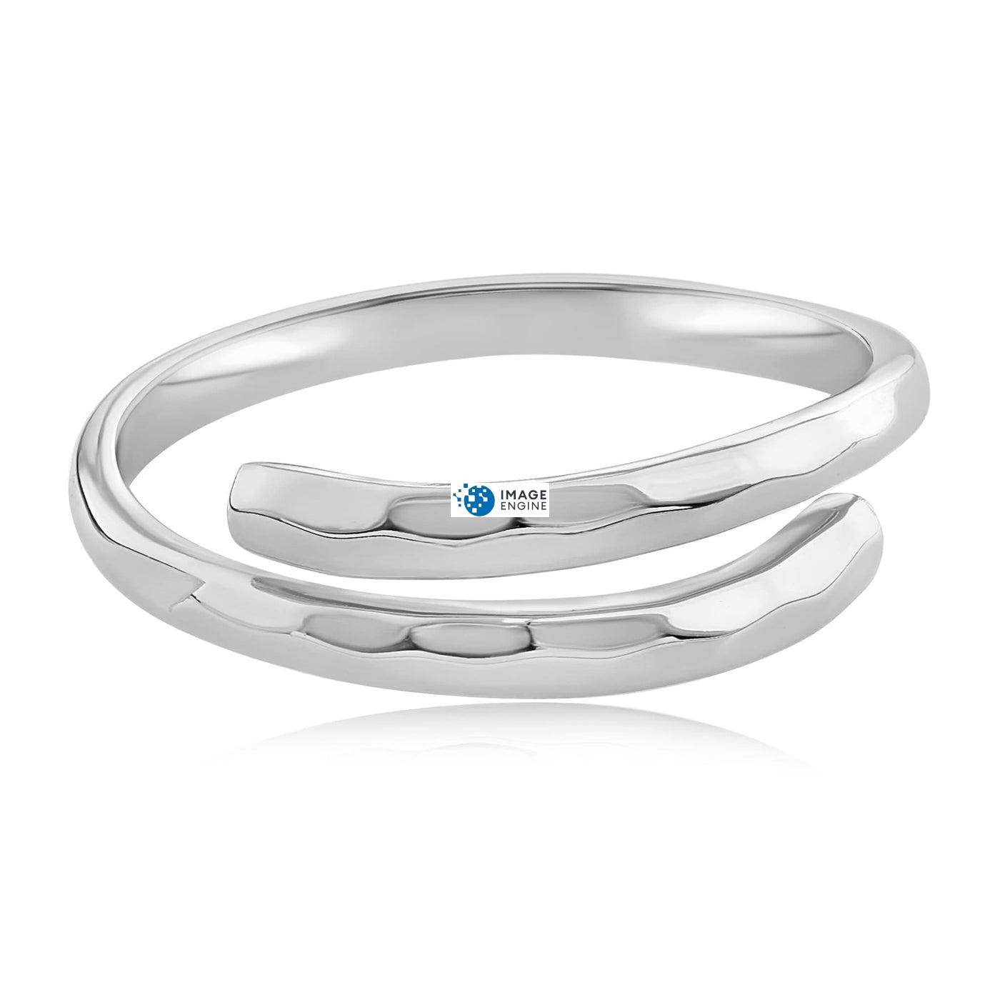 Minimalist Thumb Ring - Front View Facing Down - 925 Sterling Silver