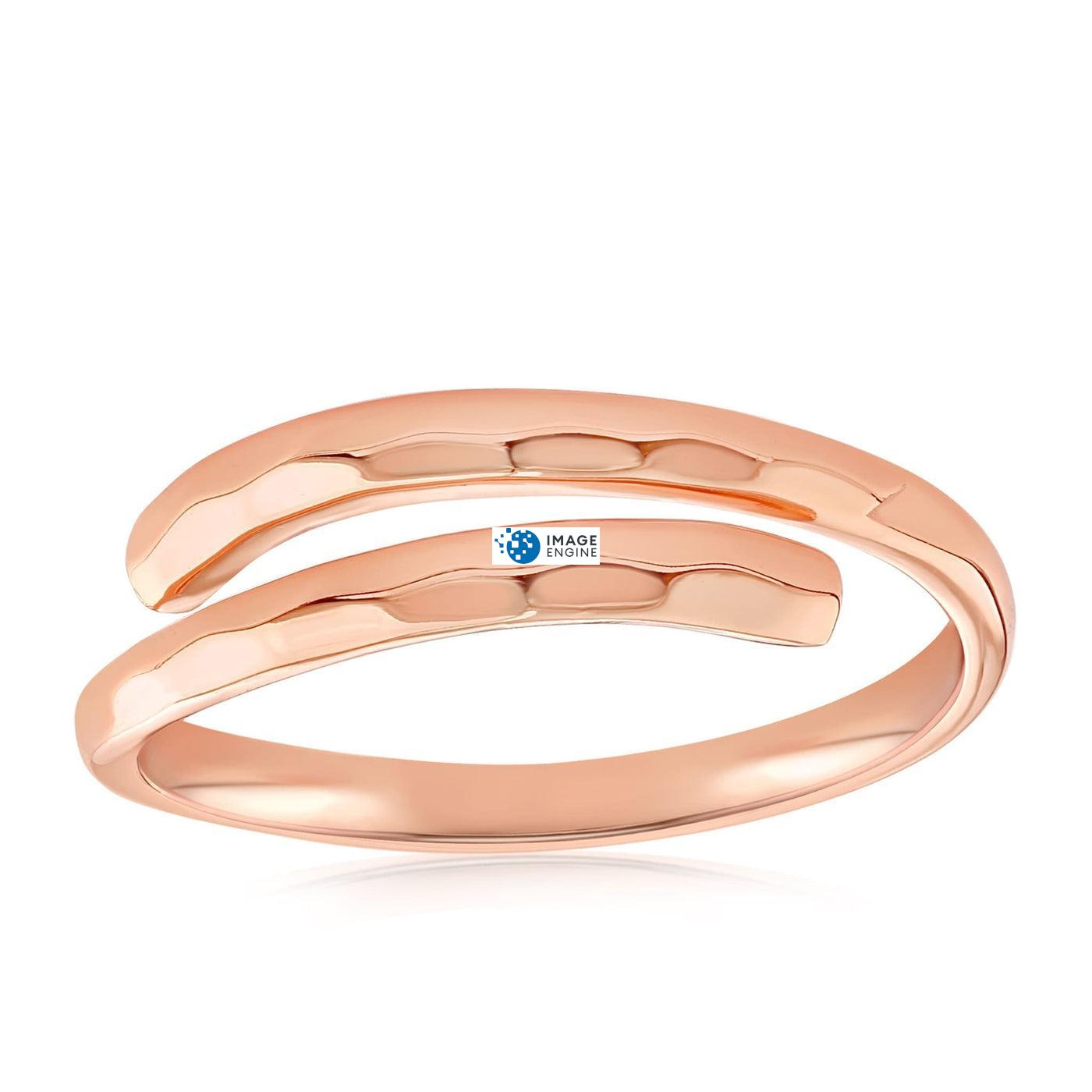 Minimalist Thumb Ring - Front View Facing Up - 18K Rose Gold Vermeil