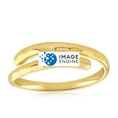 Minimalist Thumb Ring - Front View Facing Up - 18K Yellow Gold Vermeil Featured