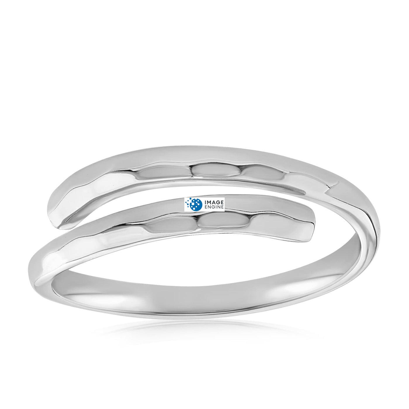 Minimalist Thumb Ring - Front View Facing Up - 925 Sterling Silver