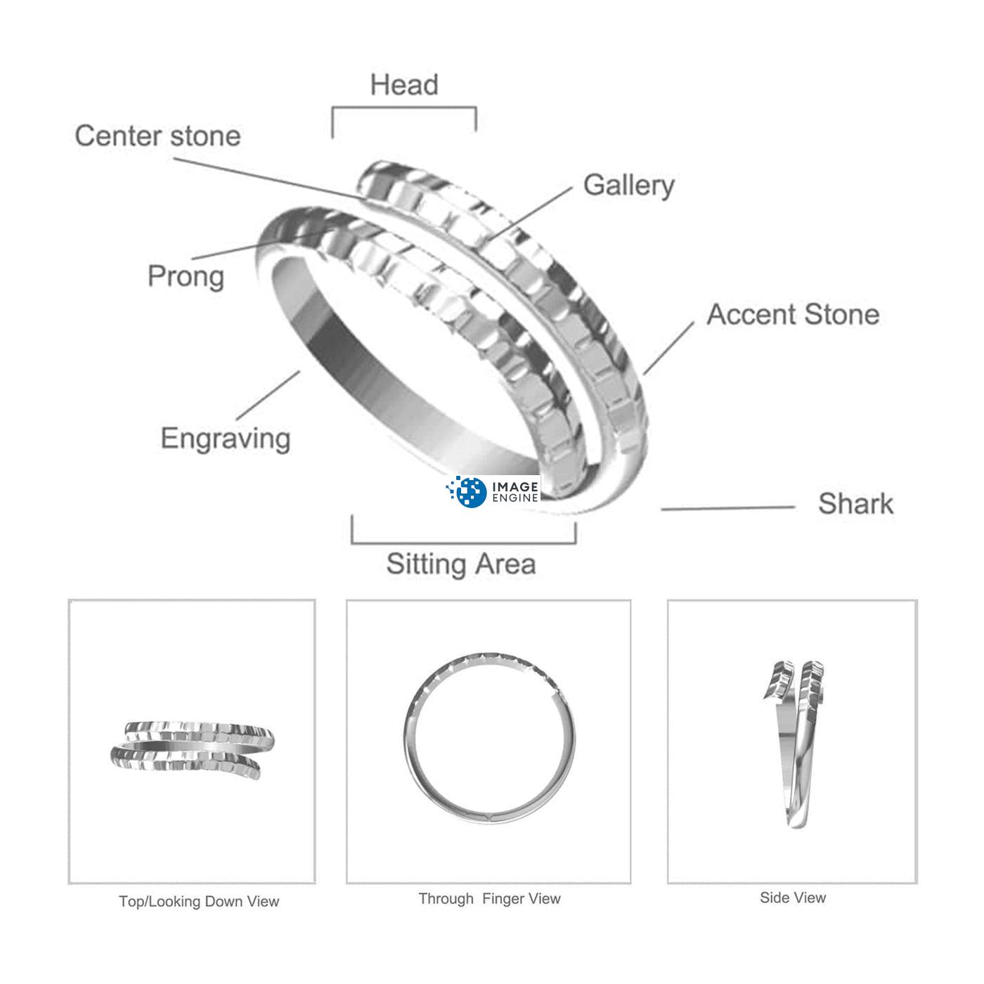 Minimalist Thumb Ring Diagram and Specifications