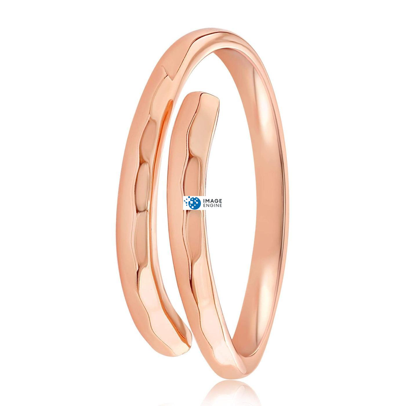 Minimalist Thumb Ring - Side View - 18K Rose Gold Vermeil