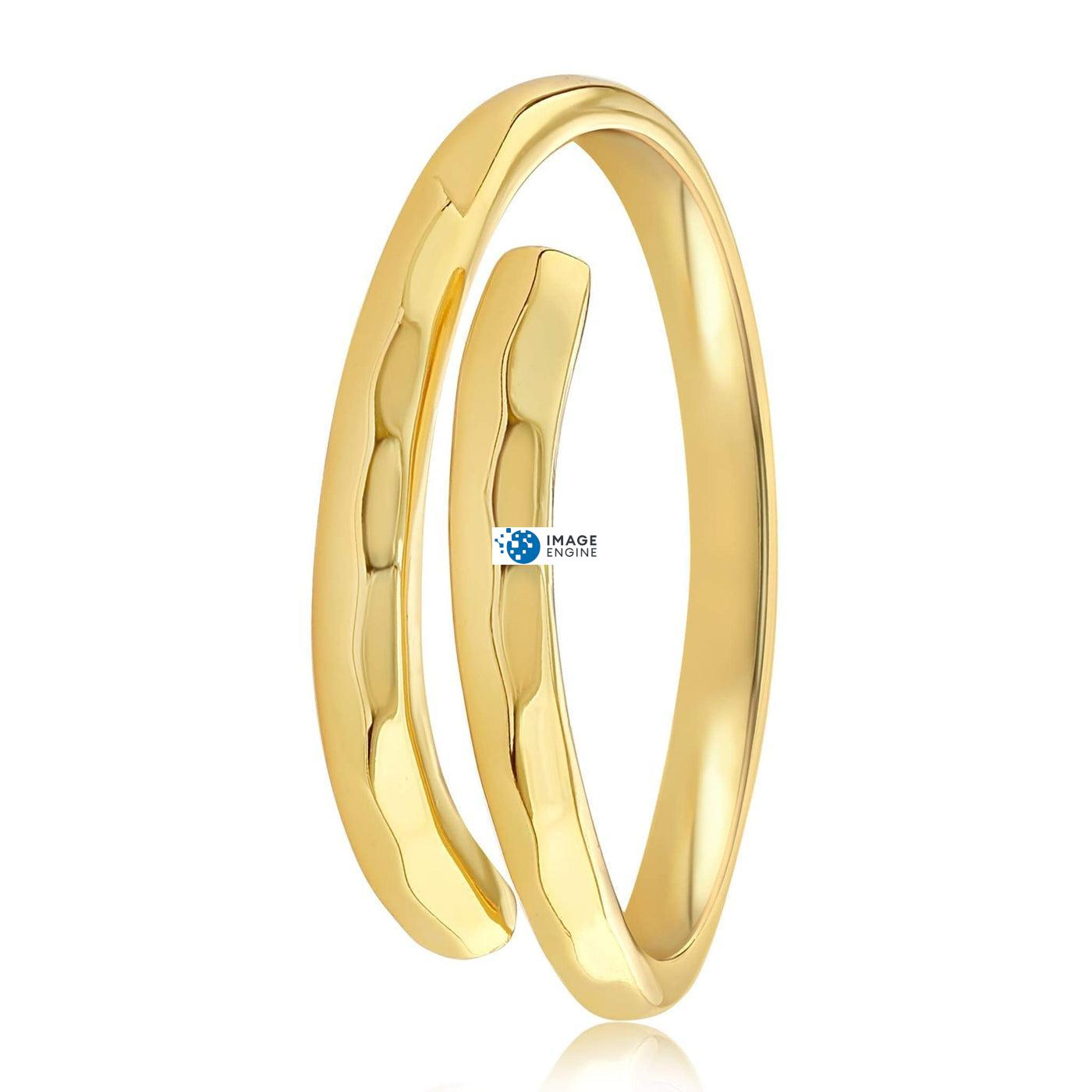Minimalist Thumb Ring - Side View - 18K Yellow Gold Vermeil