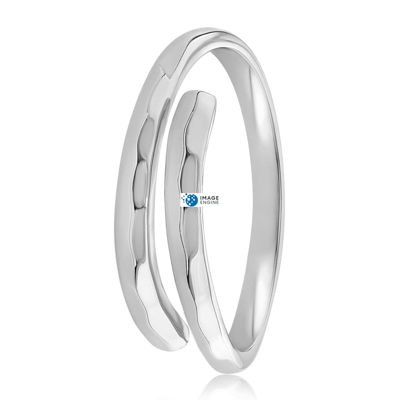 Minimalist Thumb Ring - Side View - 925 Sterling Silver