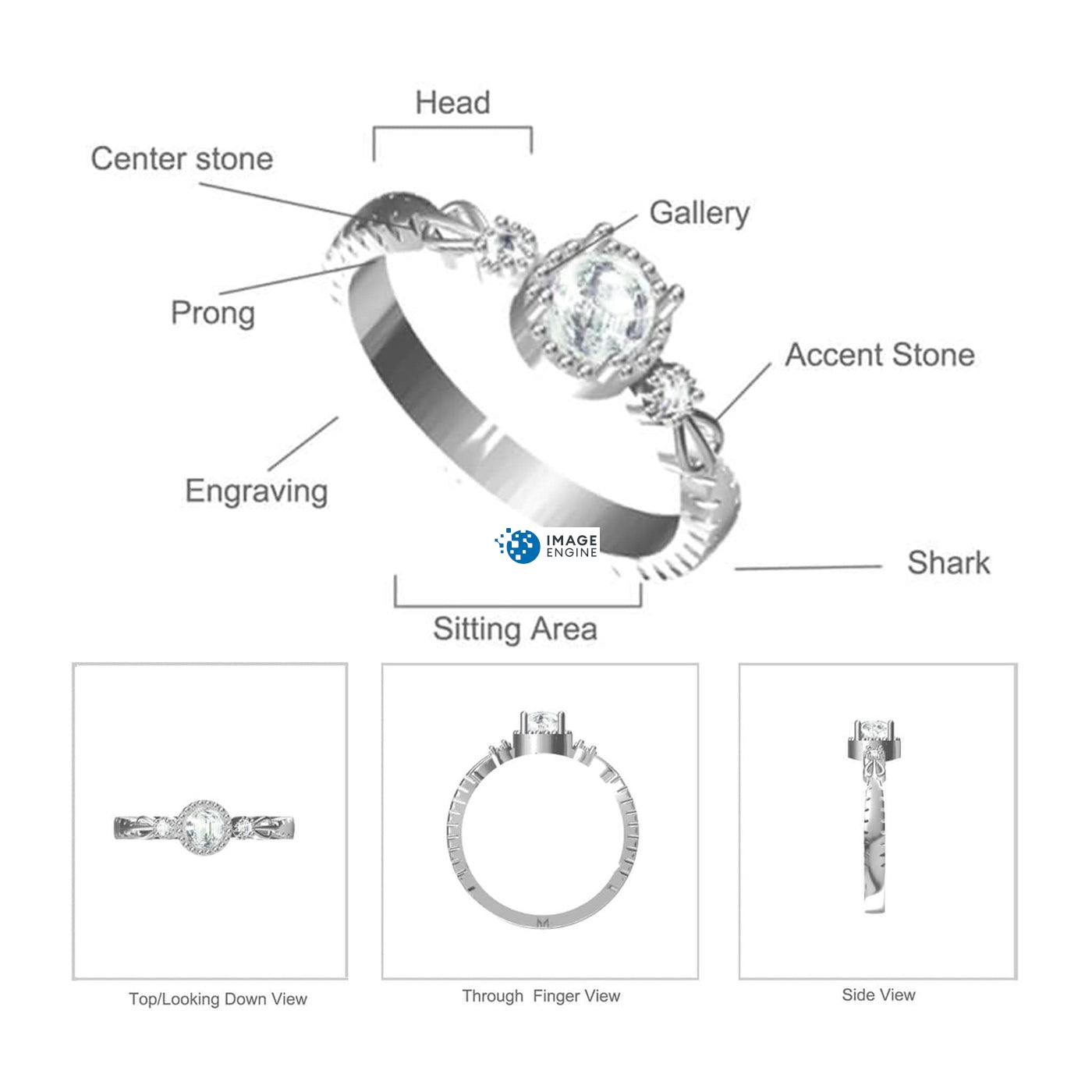 Mystic Moonstone Mood Ring - Parts - Diagram