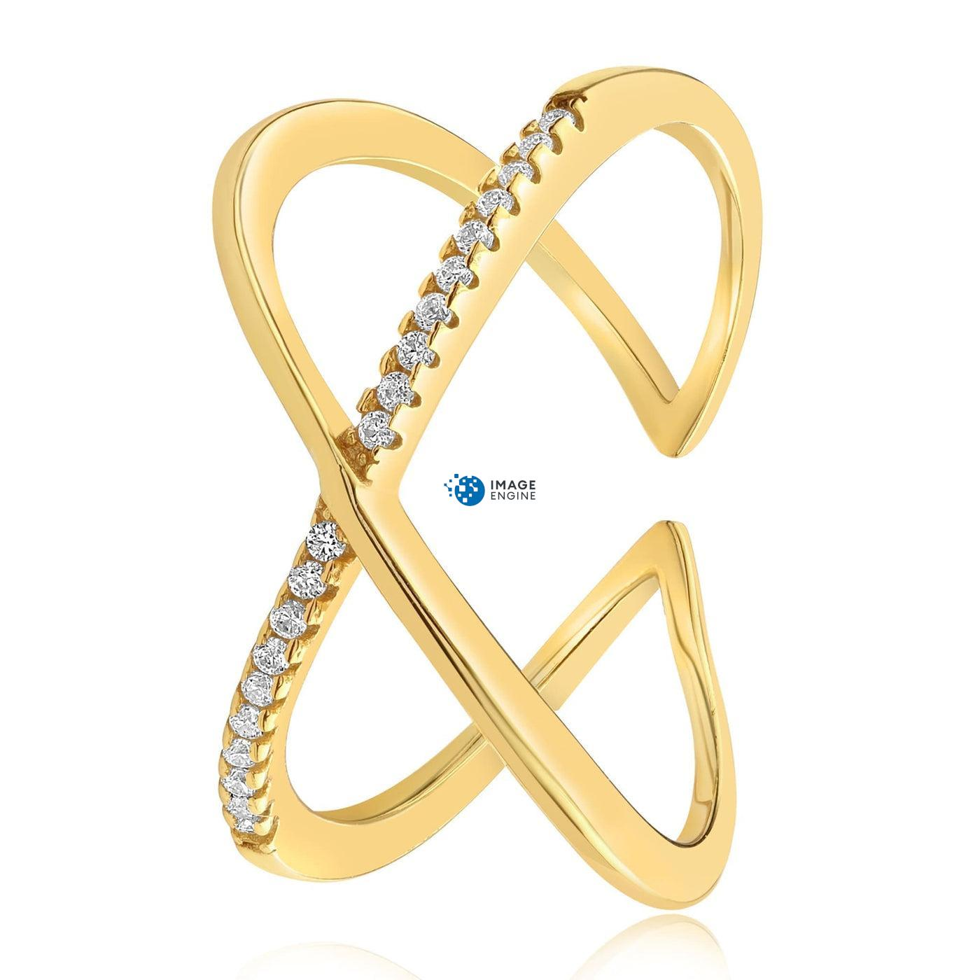 Nadia X Infinity Ring - Side View - 18K Yellow Gold Vermeil