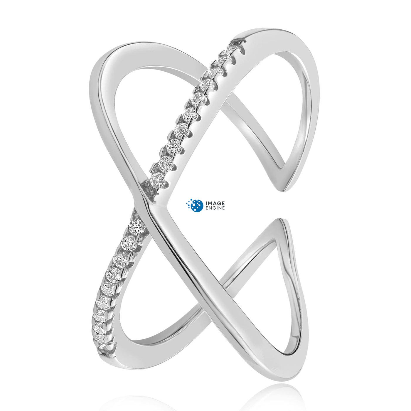 Nadia X Infinity Ring - Side View - 925 Sterling Silver