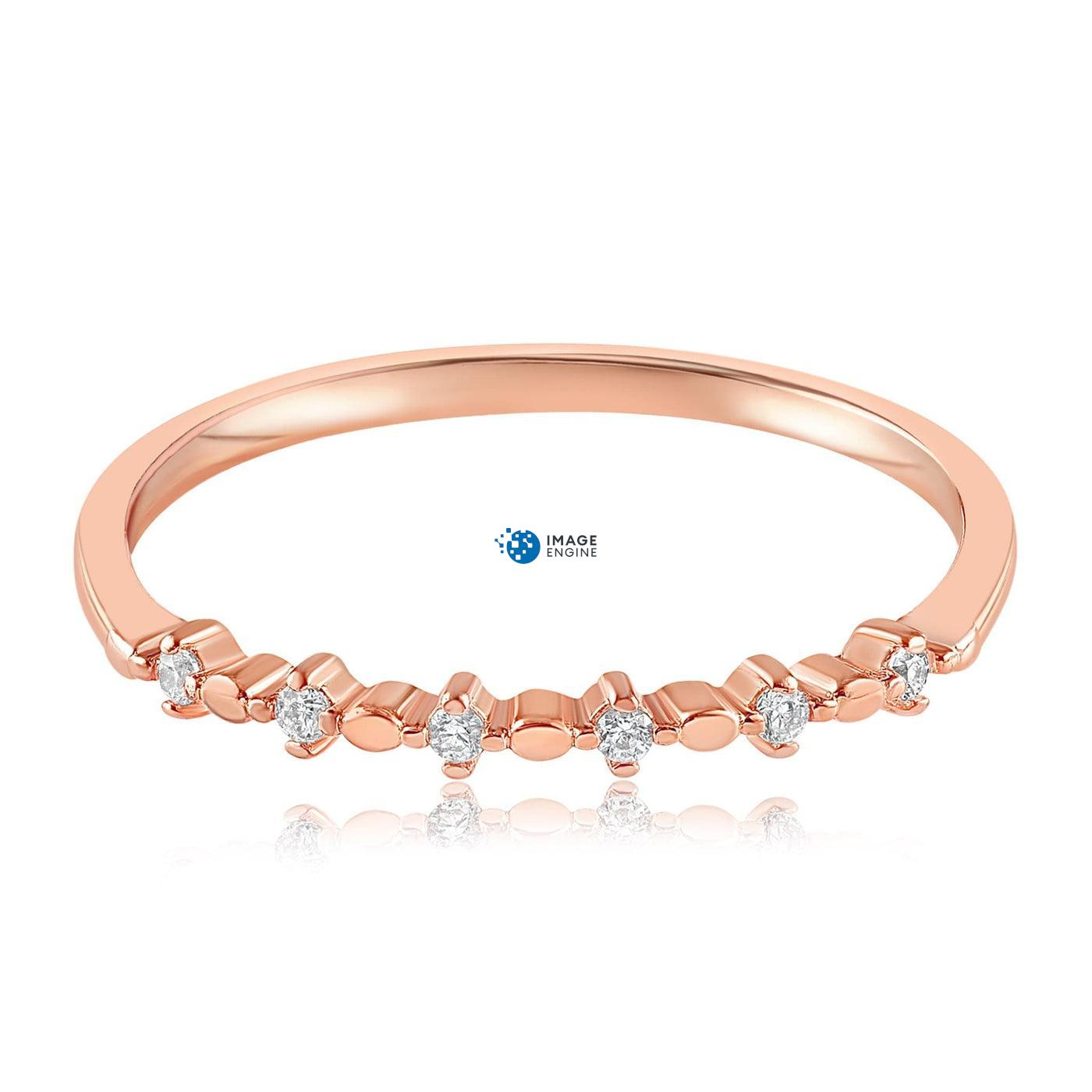 Nicolette Stackable Ring - Front View Facing Down - 18K Rose Gold Vermeil