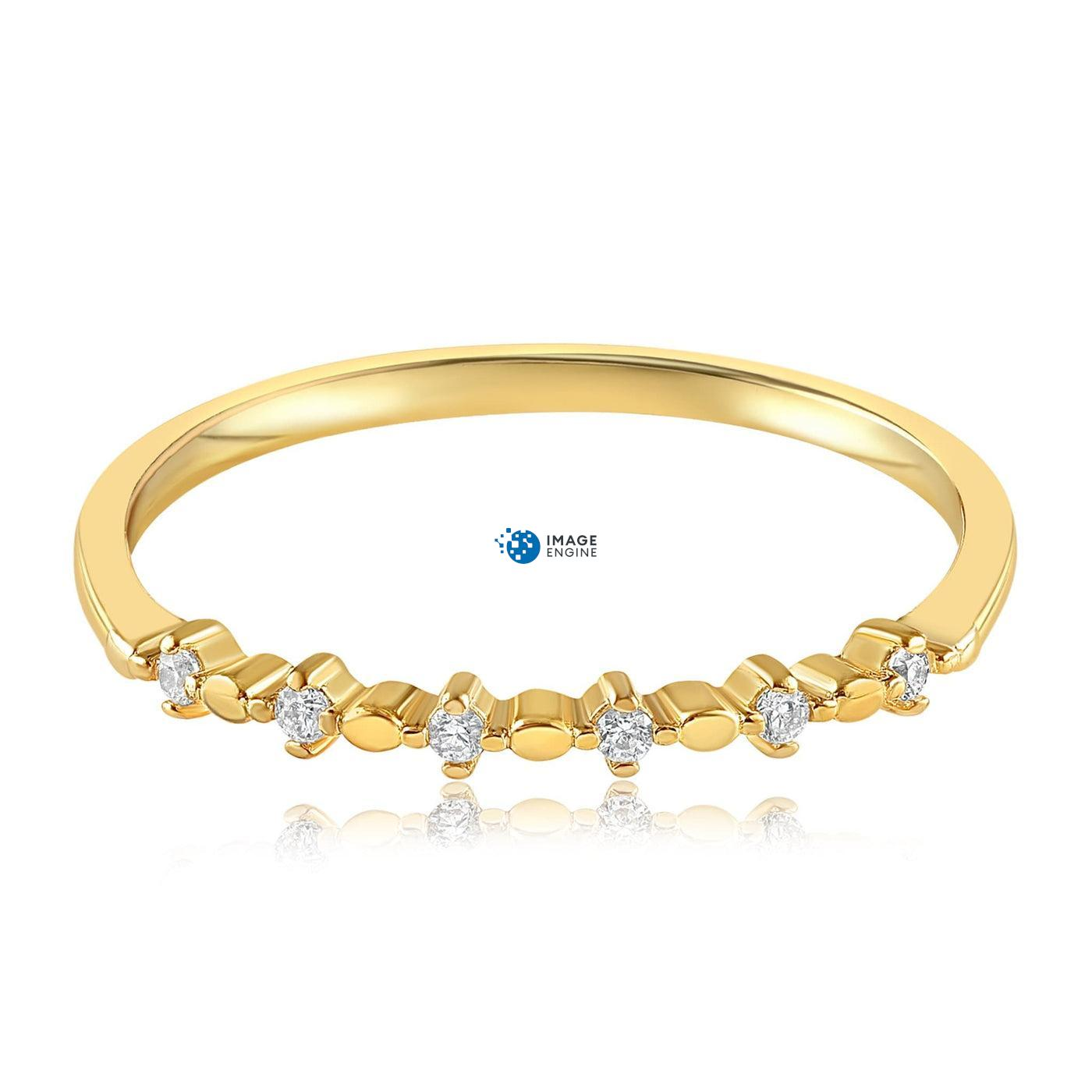 Nicolette Stackable Ring - Front View Facing Down - 18K Yellow Gold Vermeil