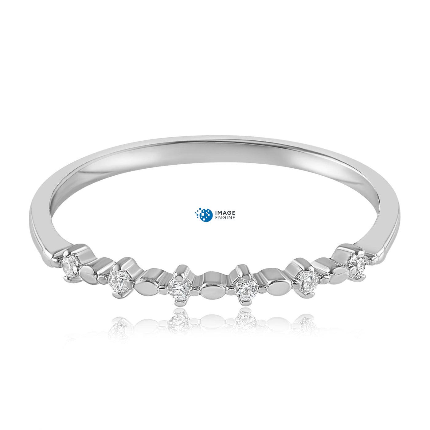 Nicolette Stackable Ring - Front View Facing Down - 925 Sterling Silver