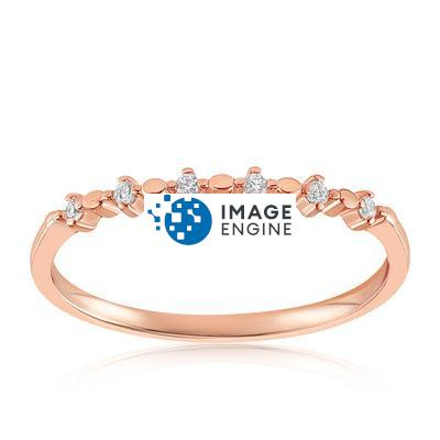 Nicolette Stackable Ring - Front View Facing Up - 18K Rose Gold Vermeil