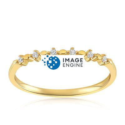 Nicolette Stackable Ring - Front View Facing Up - 18K Yellow Gold Vermeil