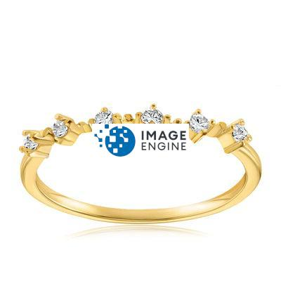 Nicolette Stackable Ring - Front View Facing Up - 18K Yellow Gold Vermeil Featured
