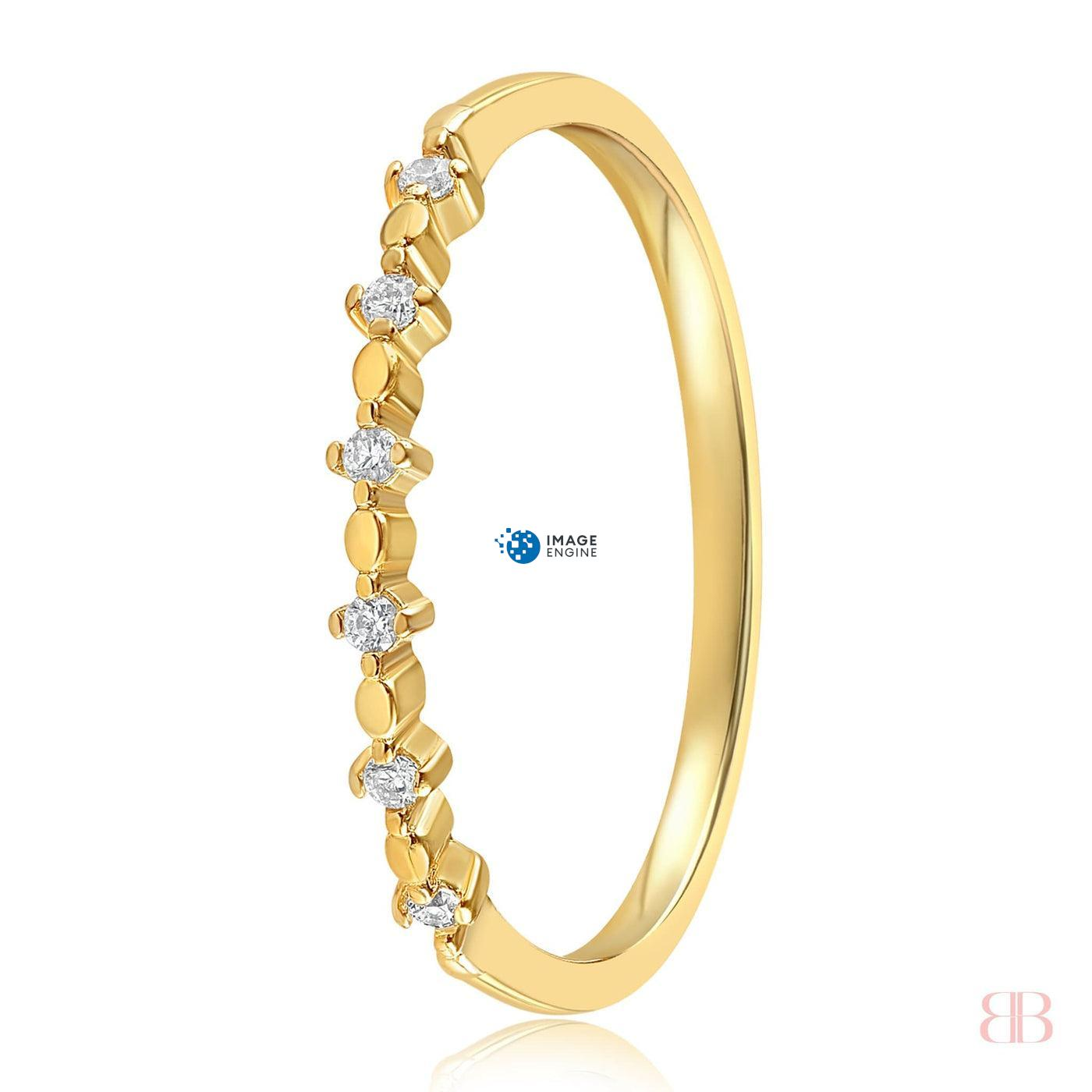 Nicolette Stackable Ring - Side View - 18K Yellow Gold Vermeil