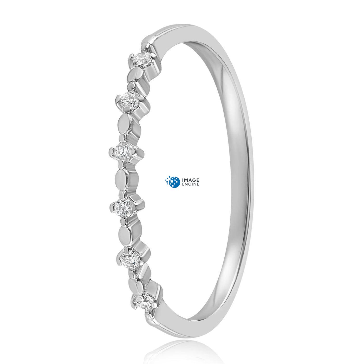 Nicolette Stackable Ring - Side View - 925 Sterling Silver