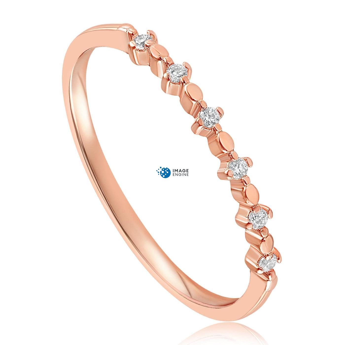 Nicolette Stackable Ring - Three Quarter View - 18K Rose Gold Vermeil