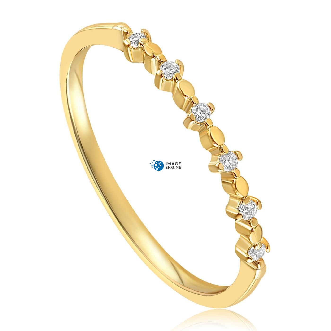 Nicolette Stackable Ring - Three Quarter View - 18K Yellow Gold Vermeil