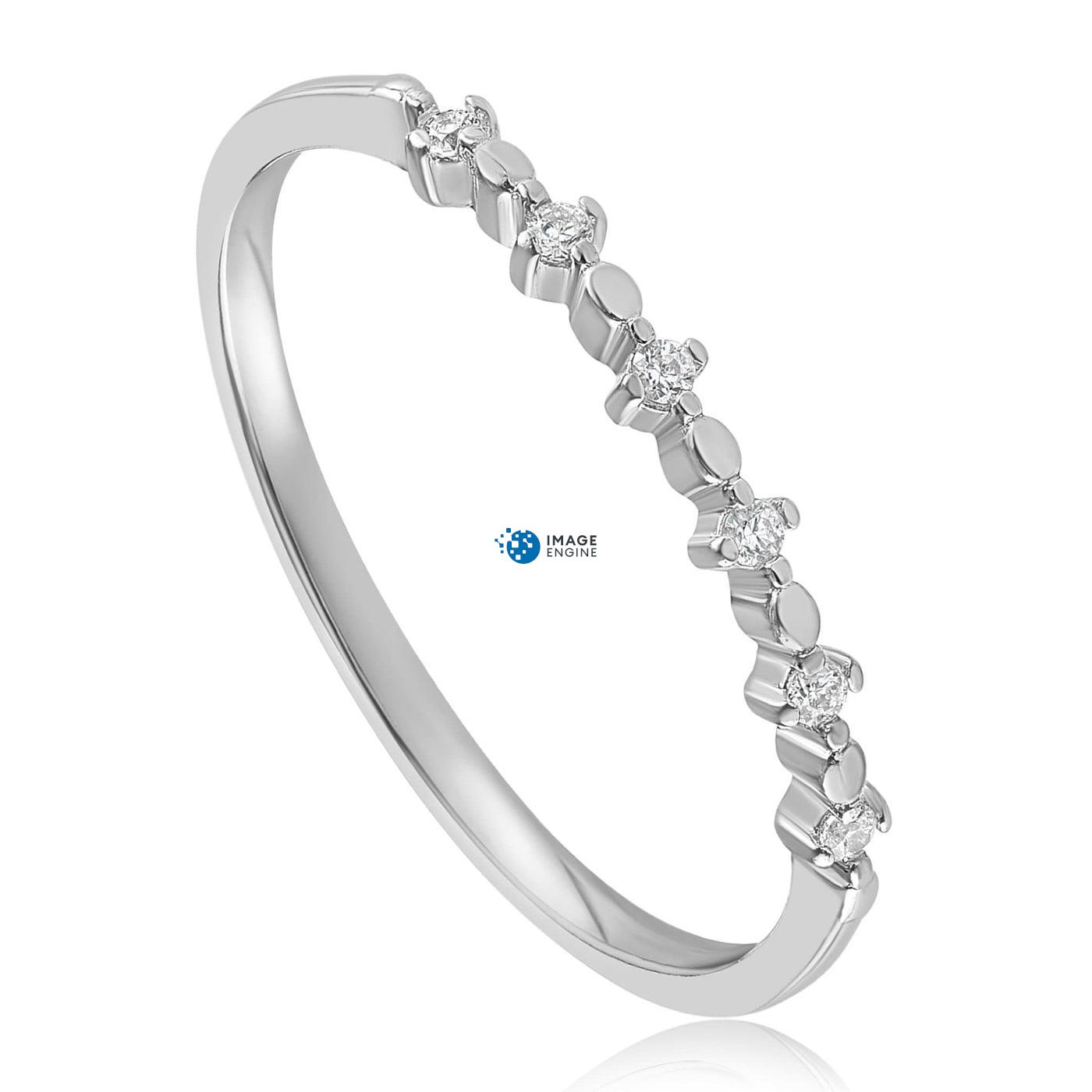 Nicolette Stackable Ring - Three Quarter View - 925 Sterling Silver
