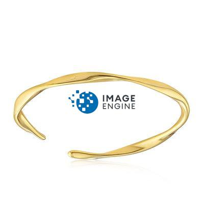 Olivia Twist Ring - Front View Facing Up - 18K Yellow Gold Vermeil Featured