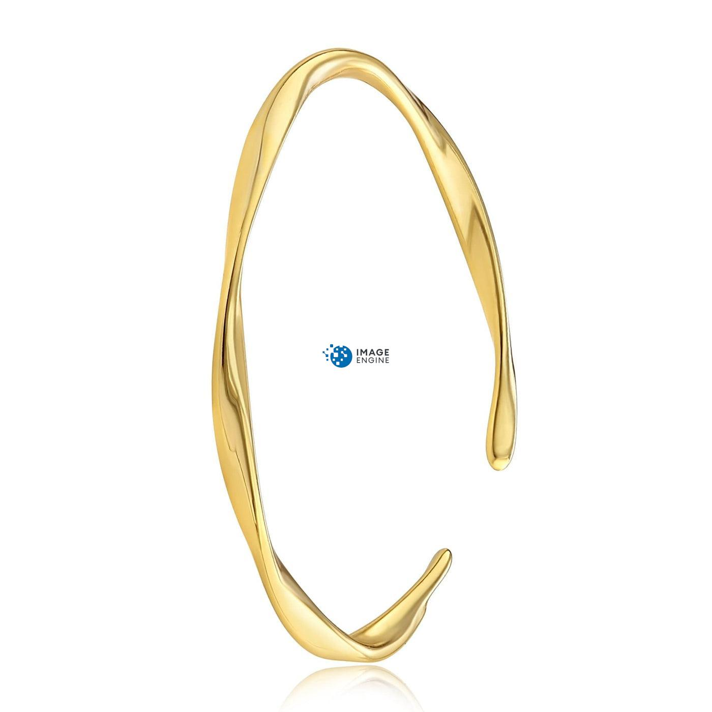 Olivia Twist Ring - Side View - 18K Yellow Gold Vermeil