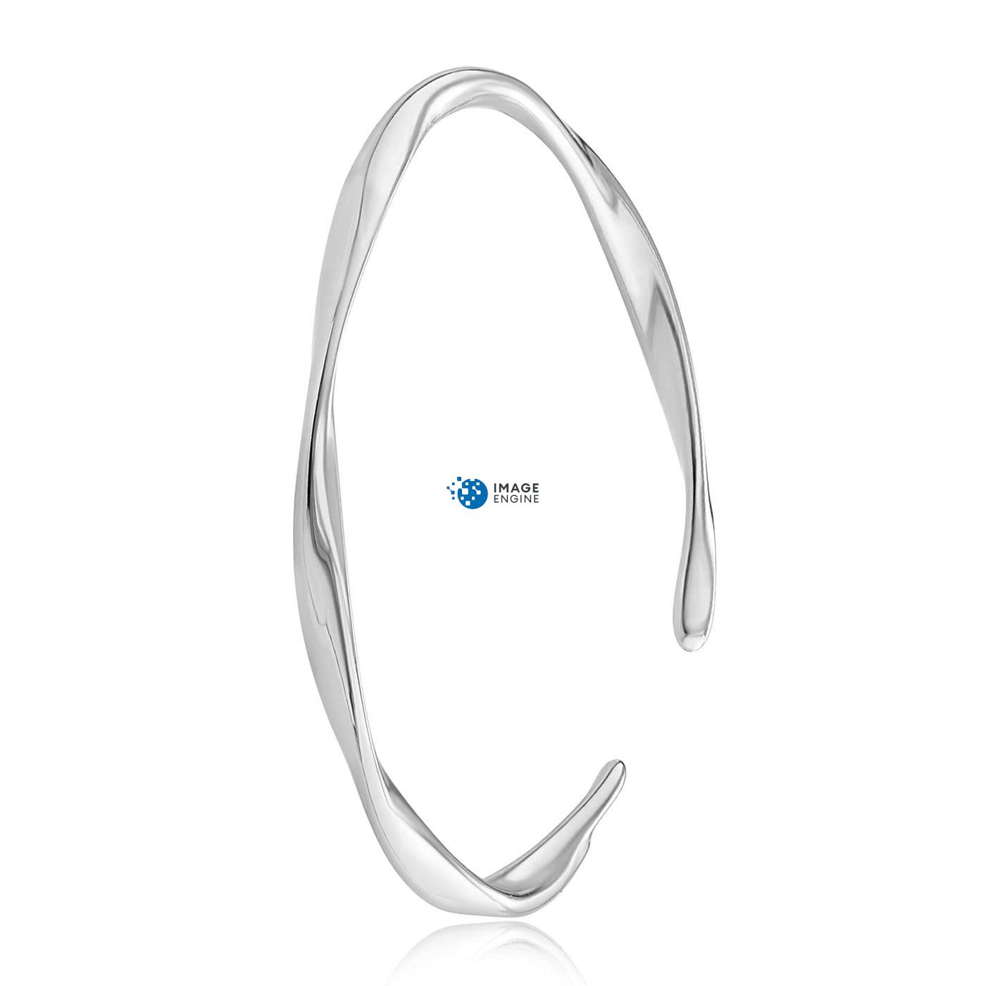 Olivia Twist Ring - Side View - 925 Sterling Silver