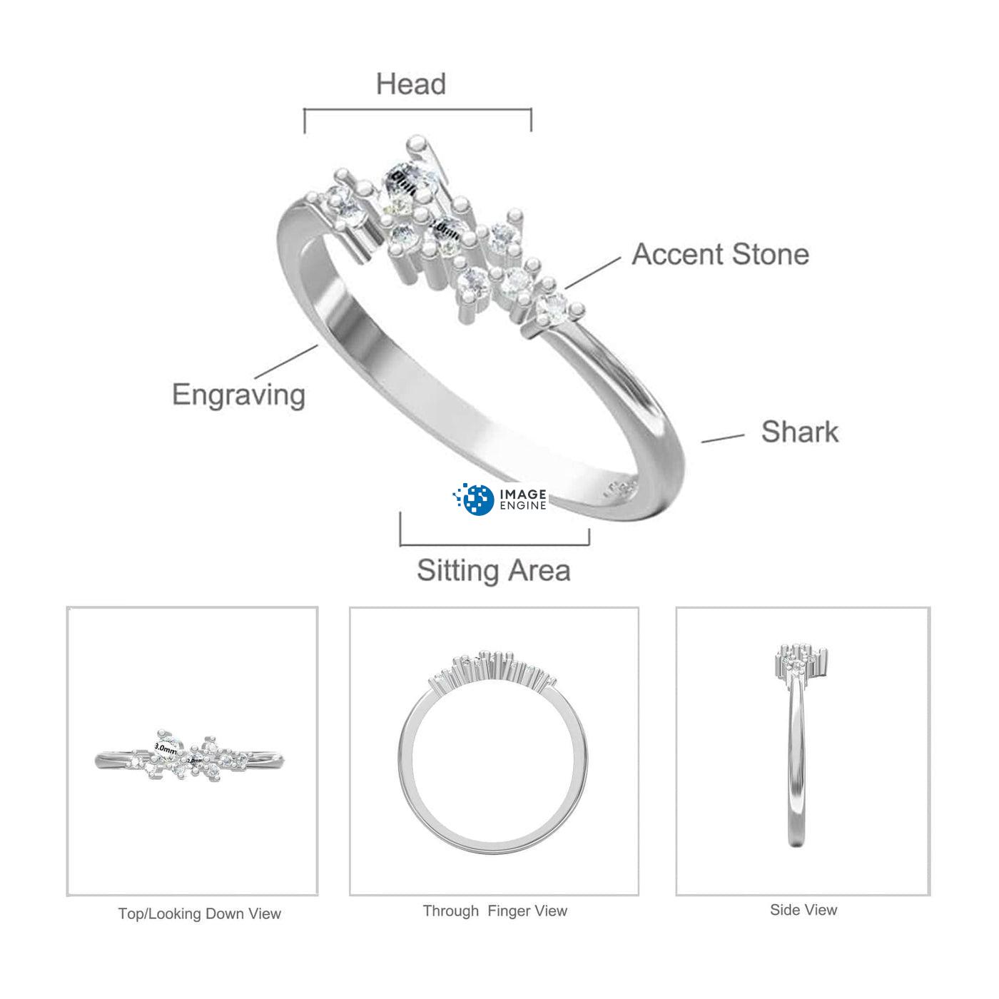 Sasha Sparkle Ring Diagram and Specifications