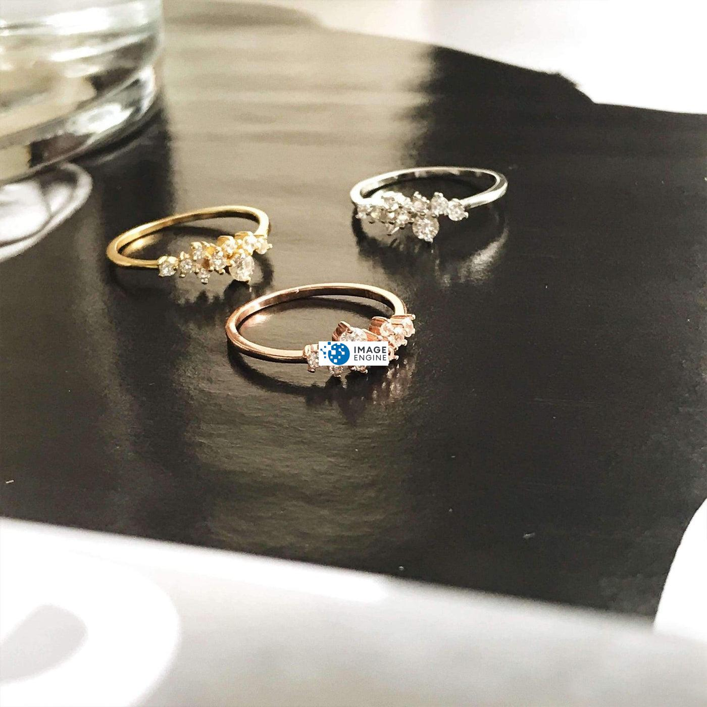 Sasha Sparkle Ring - Trios Spread Out