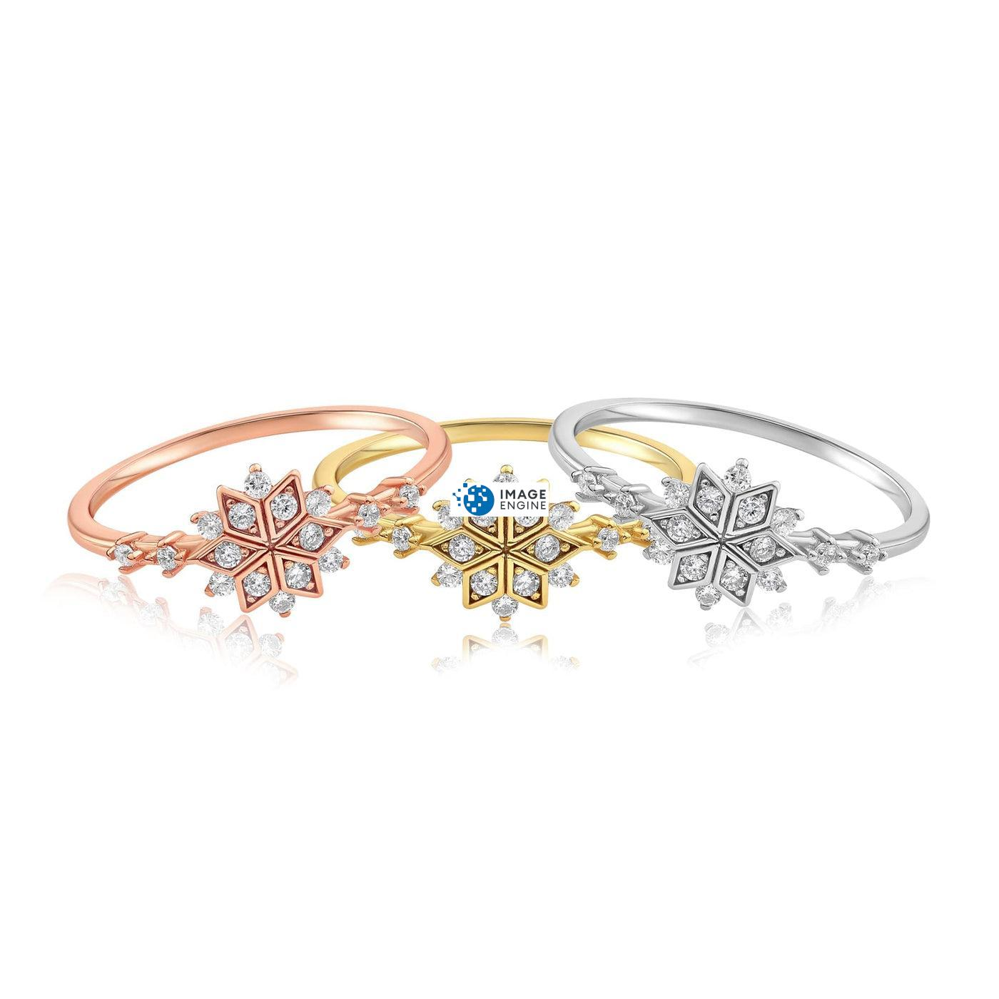 Sophia Snowflake Ring - Front View - Collection