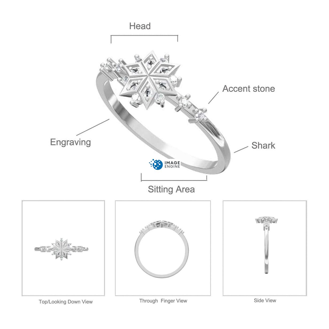 Sophia Snowflake Ring - Parts - Diagram