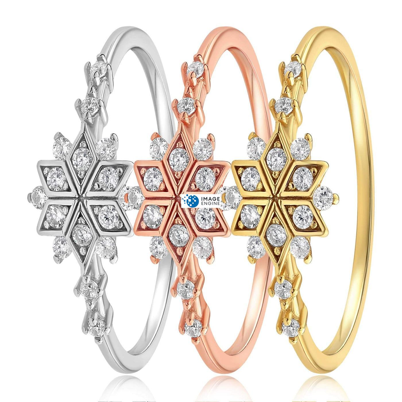 Sophia Snowflake Ring - Side by Side - Collection