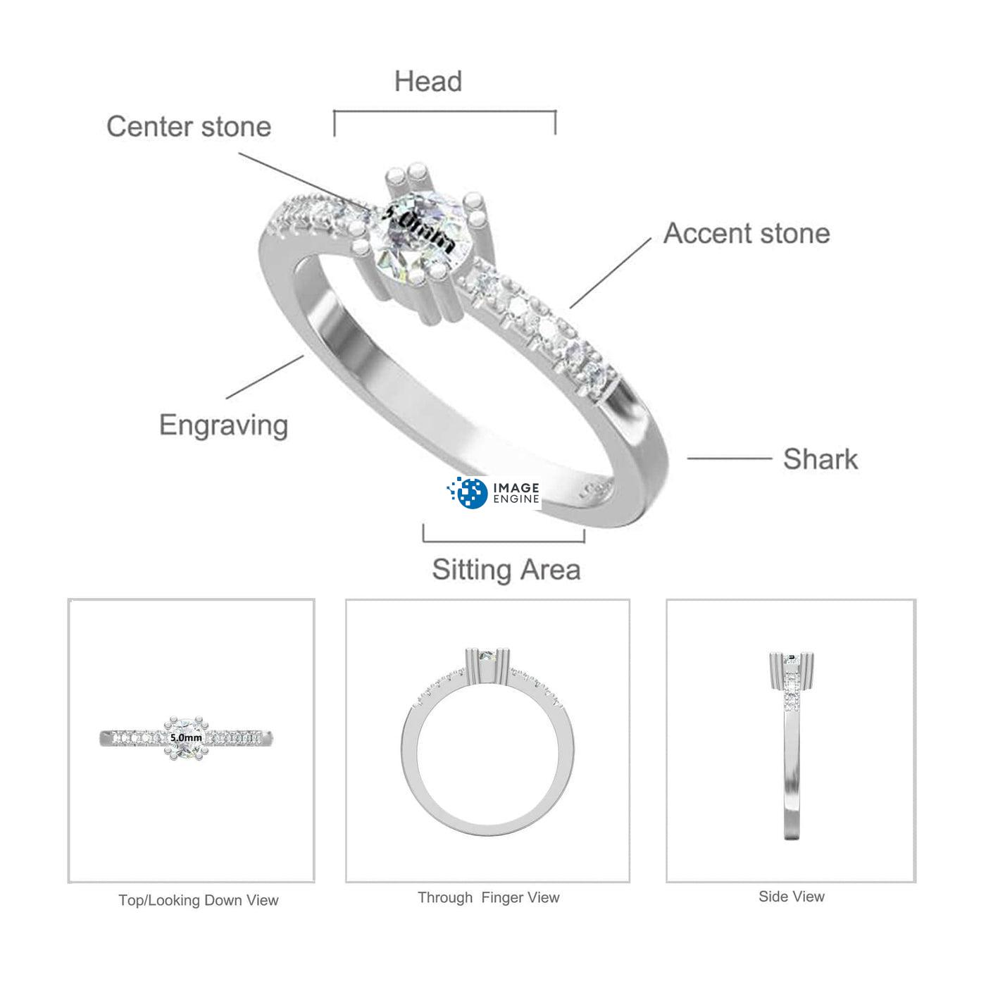 Tianna Sparkle Ring Diagram and Specifications