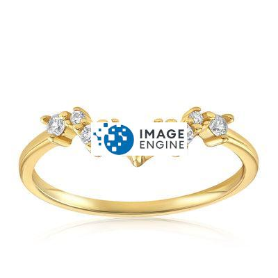 Valerie V Stack Cluster Ring - Front View Facing Up - 18K Yellow Gold Vermeil